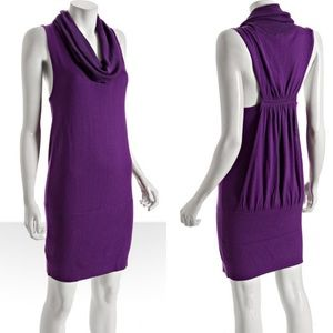BGBGMaxAzria Ultraviolet Racerback Sweater Dress